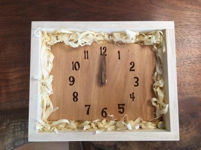 画像1: 壁掛け電波時計 ブビンガ