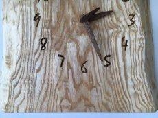画像5: 壁掛け電波時計 たも杢板 (5)