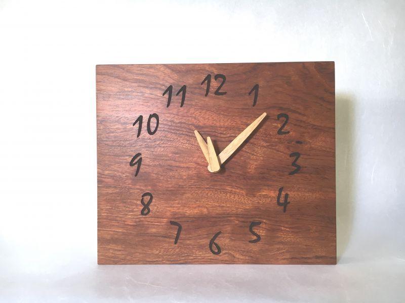 画像1: 壁掛け電波時計 ブビンガ (1)